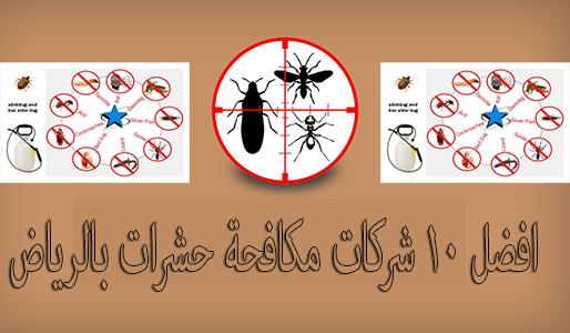 افضل 10 شركات مكافحة حشرات بالرياض
